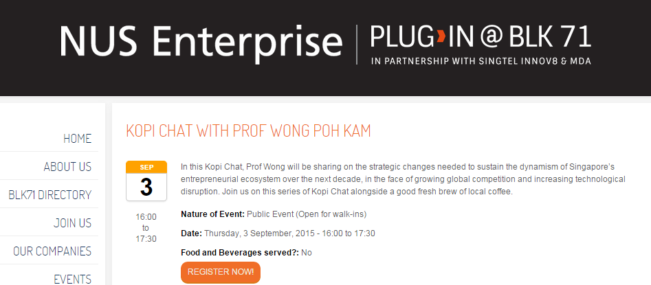Kopi Chat with Professor Wong Poh Kam - The List - The List