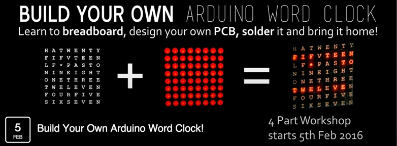 build your own arduino word clock  - the list